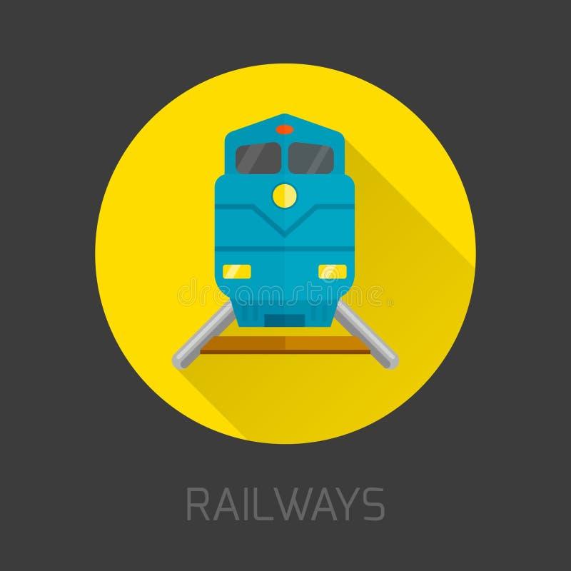 Spoorweg Vlak Pictogram royalty-vrije illustratie