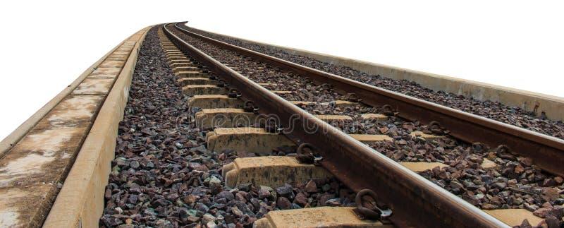 Spoorweg voor vervoer, de manier van het vervoerspoor stock afbeelding