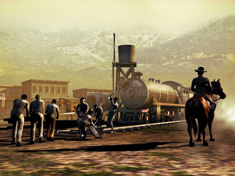 Spoorwegbouw vector illustratie
