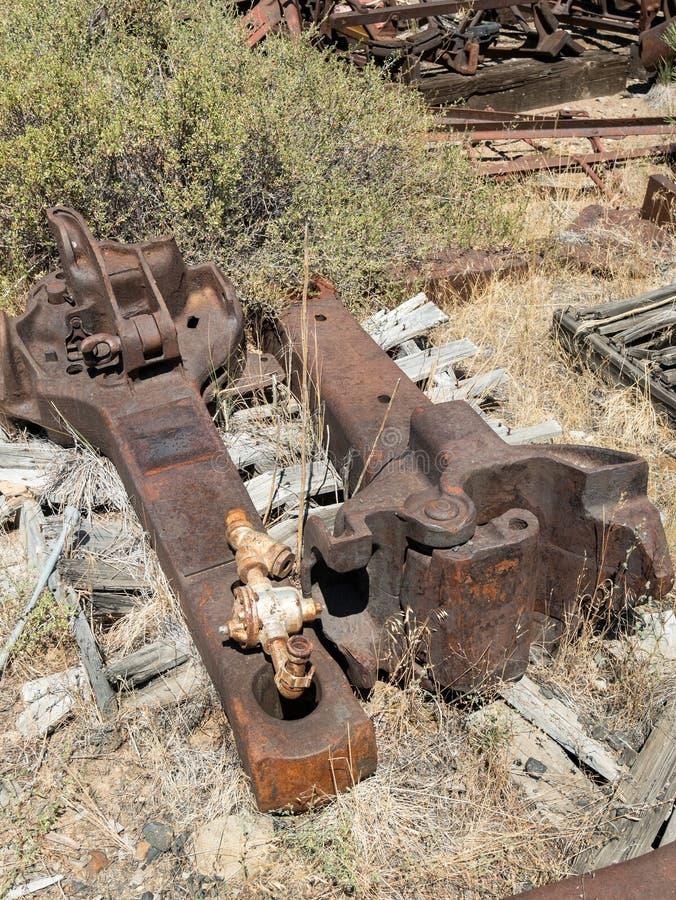Spoorwegdelen stock foto's