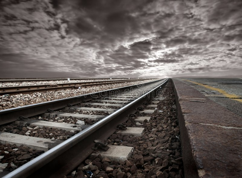 Spoorwegen stock afbeeldingen