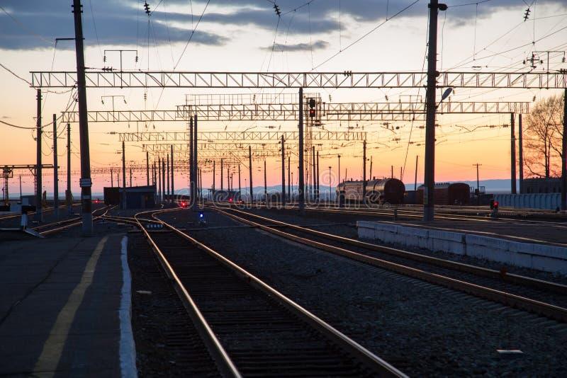 Spoorweglandschap royalty-vrije stock foto's