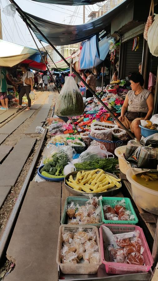 Spoorwegmarkt stock afbeelding
