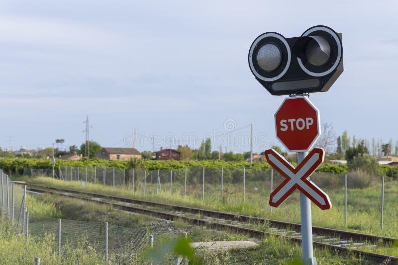 Spoorwegovergang royalty-vrije stock afbeelding