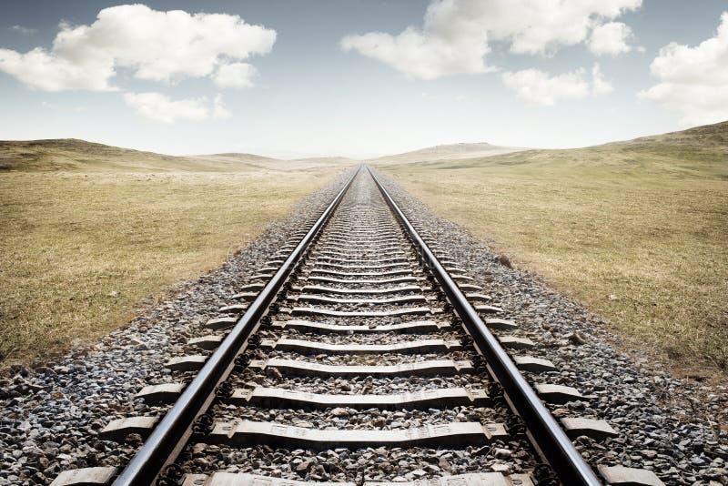Spoorwegsporen royalty-vrije stock foto's
