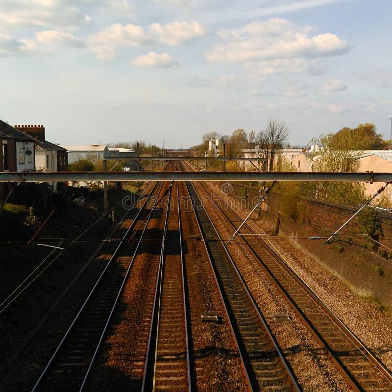 Spoorwegzon stock foto