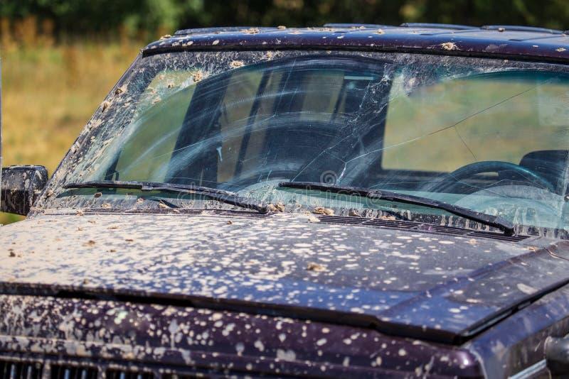 Sporcizia sull'automobile di estate immagine stock