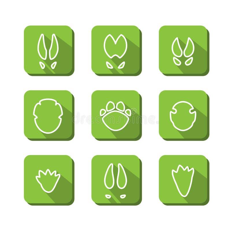 Sporen van dieren vector illustratie