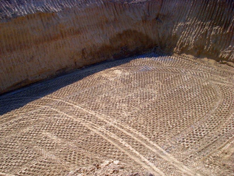 Sporen van reusachtige wegwals stock foto