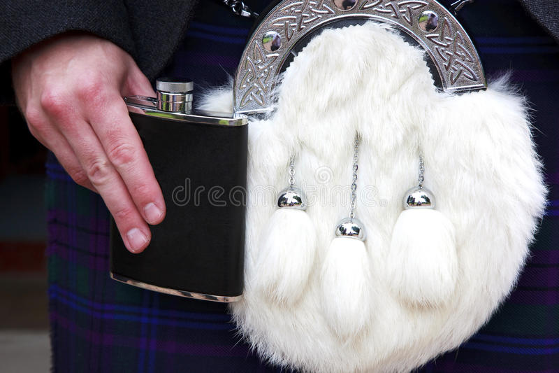 Download Sporran and Hip Flask stock photo. Image of whisky, celebration - 10618222