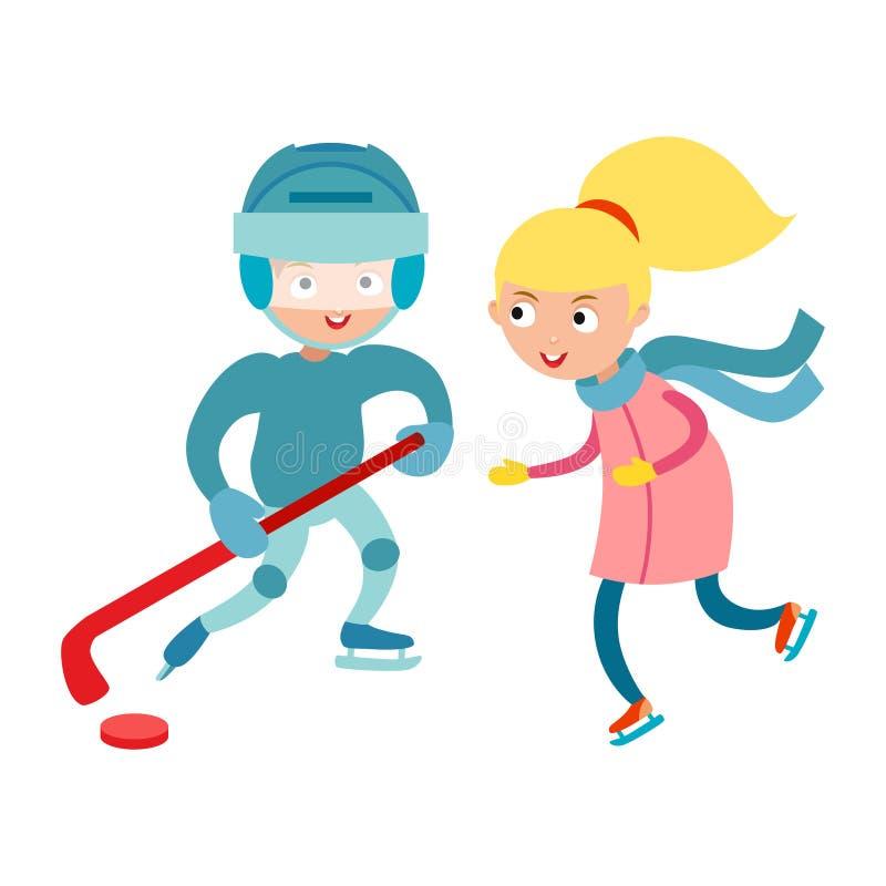 Sportów dzieci wektorowi ilustracji
