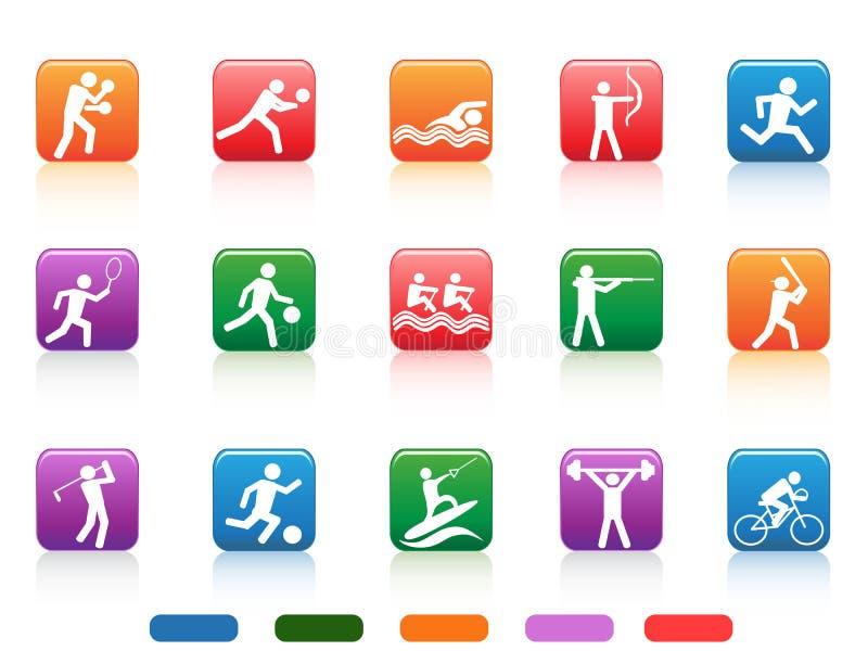 Sportów guzików ludzie ilustracji