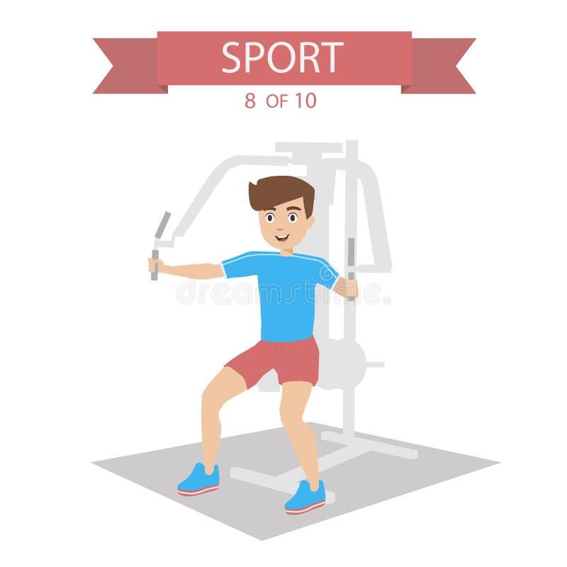 Sportów ludzie Wektorowi ilustracja wektor