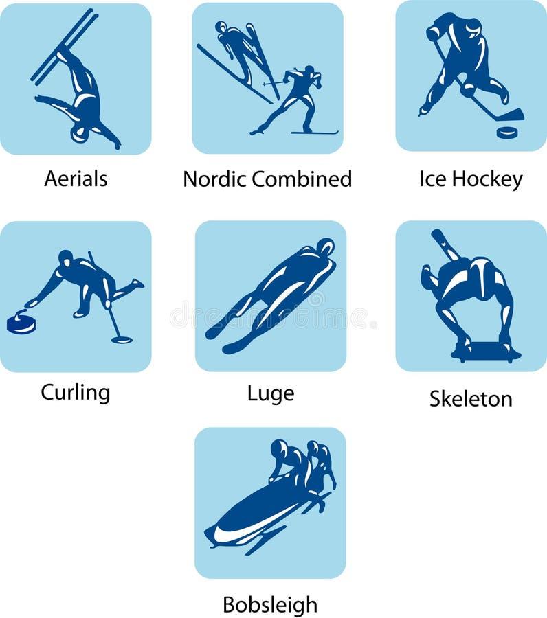 Sportów piktogramy ilustracja wektor