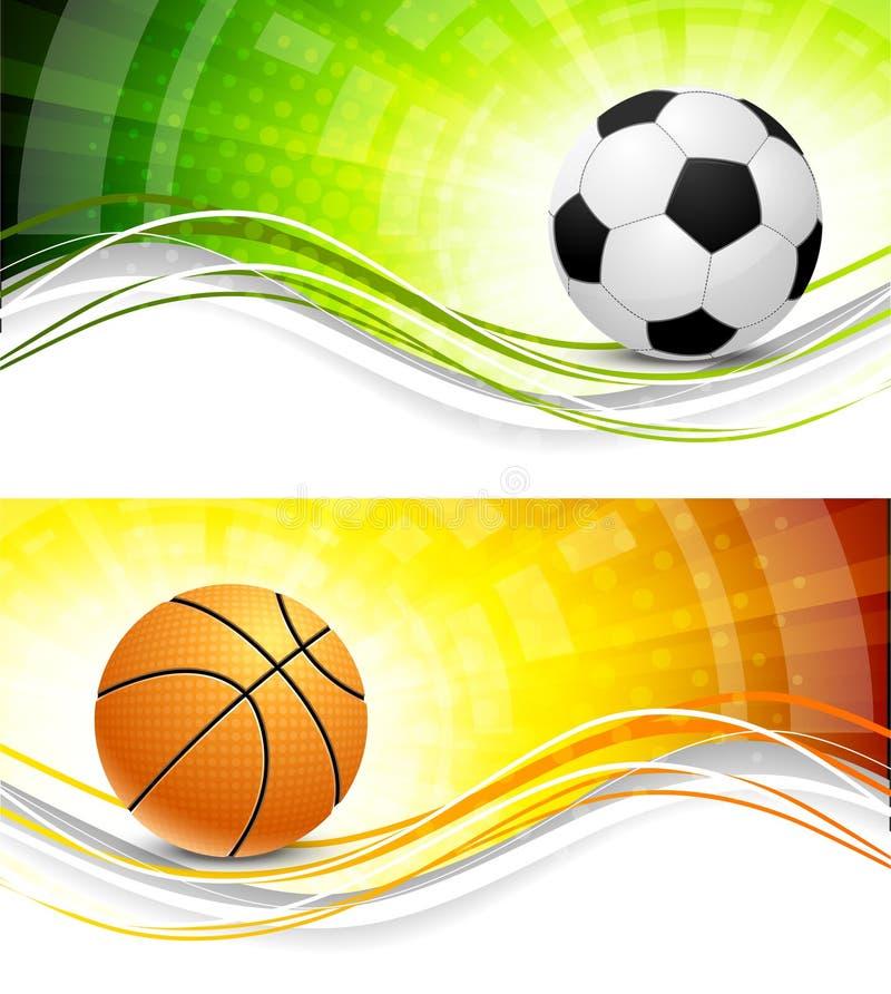Sportów sztandary ilustracja wektor