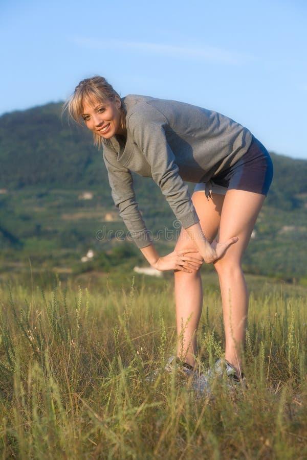 sportów zmęczeni kobiety potomstwa zdjęcia stock