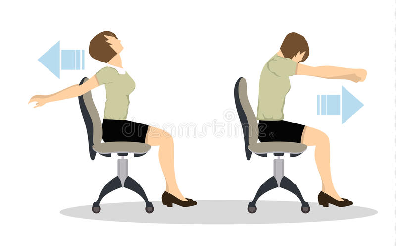 Sportübungen für Büro stock abbildung