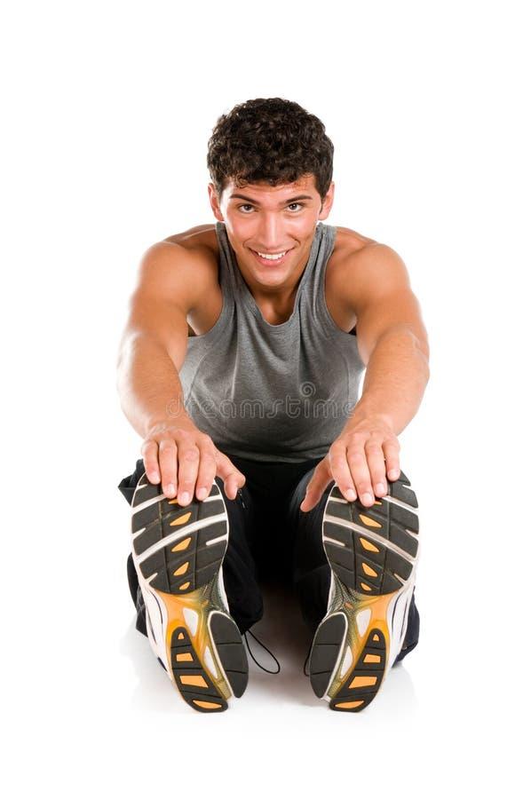 Sportübungen getrennt lizenzfreie stockfotos