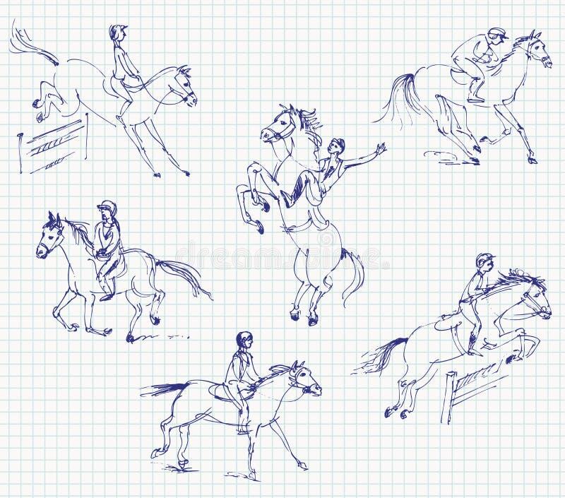 Sport équestre - affichez brancher illustration de vecteur