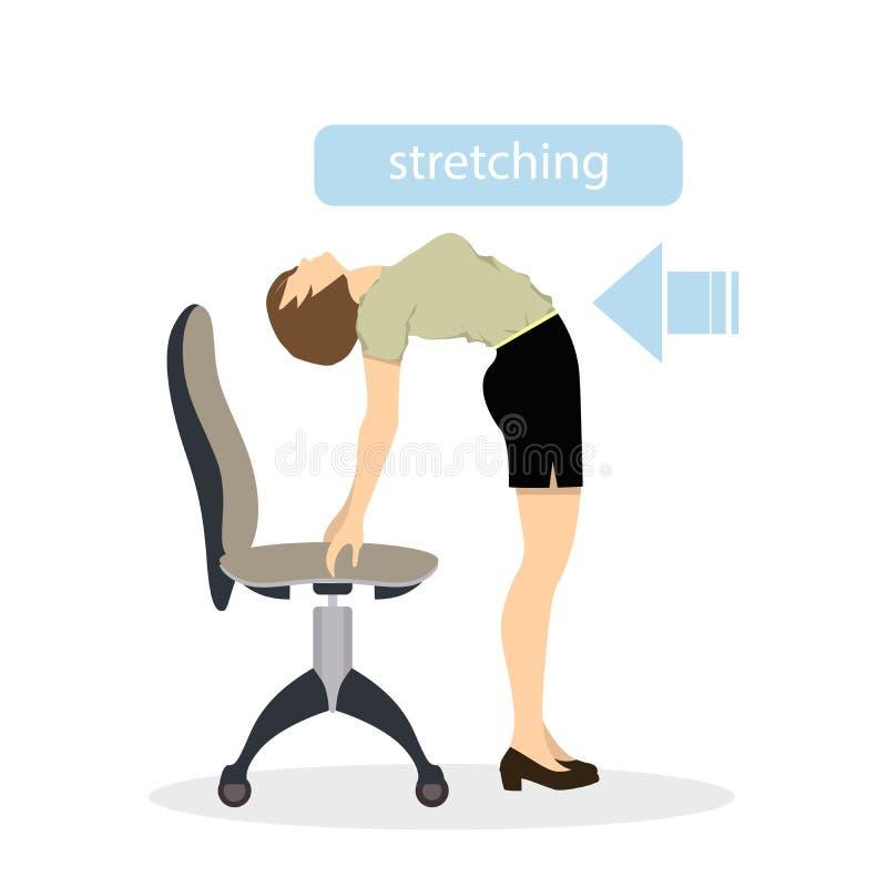 Sport ćwiczy dla biura royalty ilustracja
