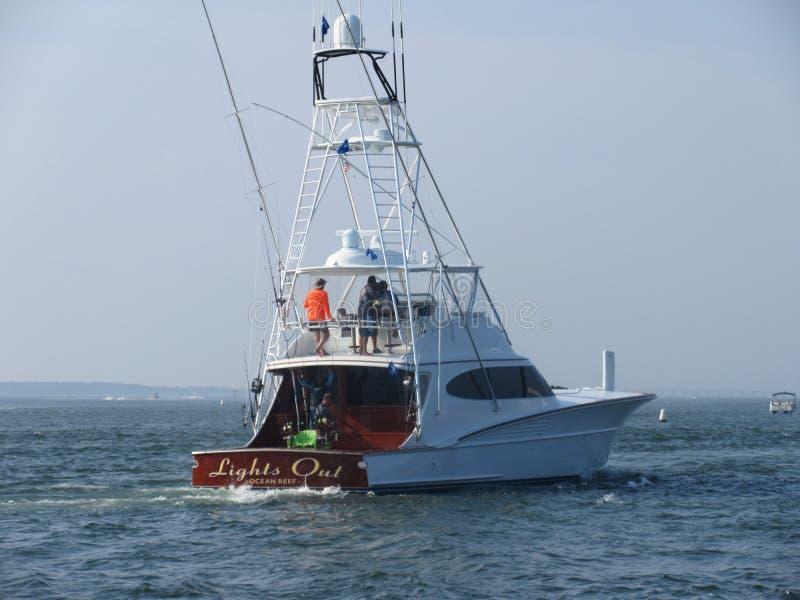 Sport łódź rybacka Z tuńczyka wierza fotografia stock