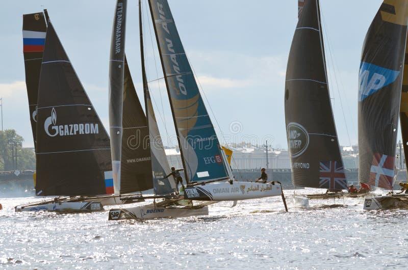 Sport łodzi żagiel meta obrazy royalty free
