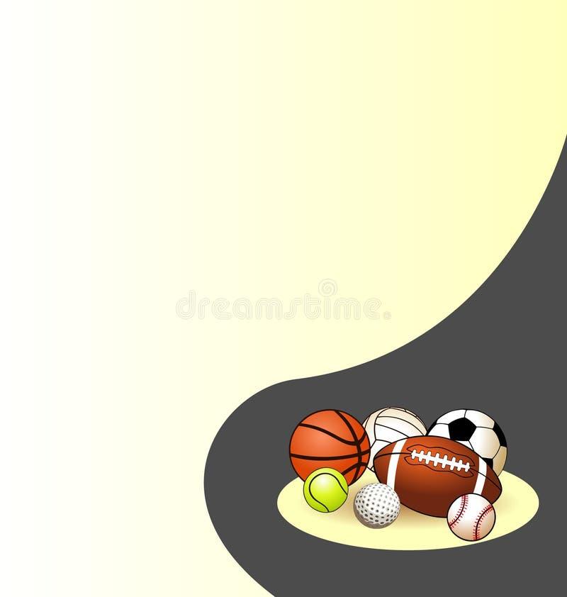sport abstrait de fond illustration libre de droits