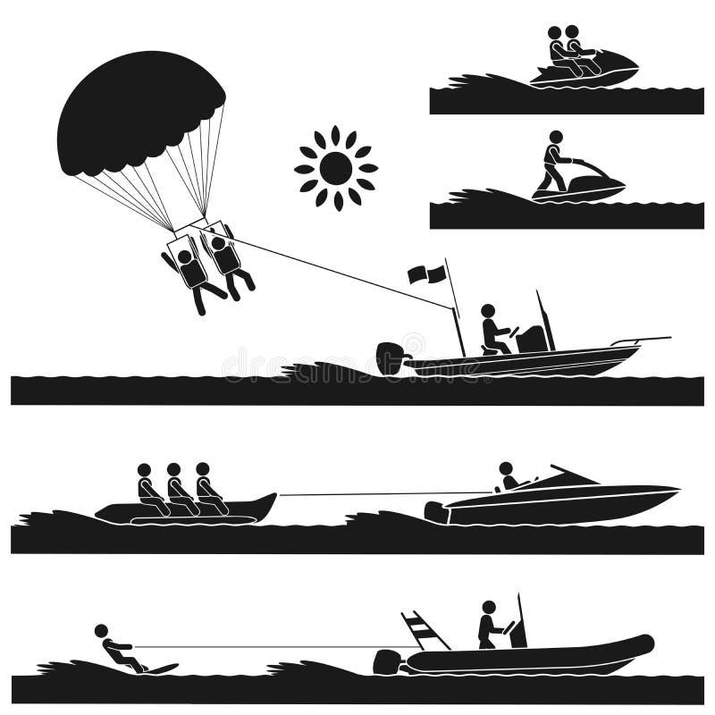 Sport acquatici illustrazione vettoriale