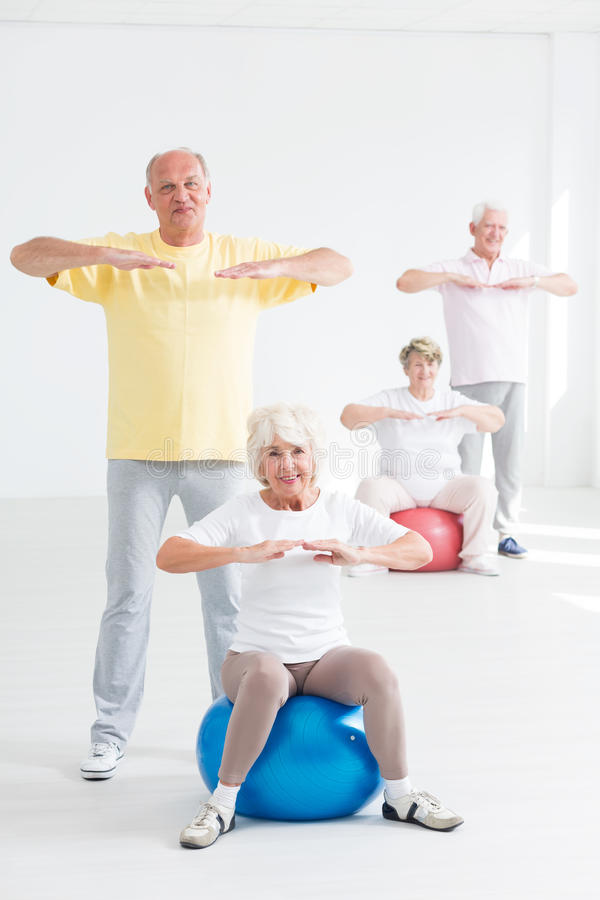 Sport activity is good at any age royalty free stock images