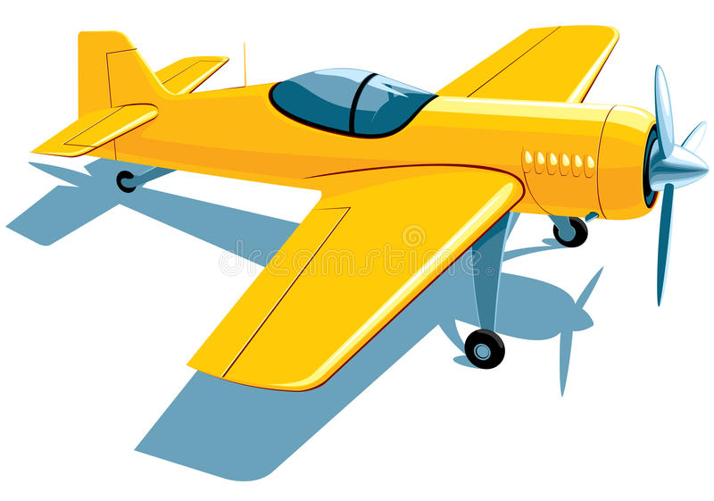 Download Sport airplane stock vector. Image of white, horizontal - 25318808