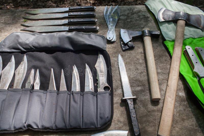 Sport all'aperto che gettano i coltelli Italia fotografie stock libere da diritti