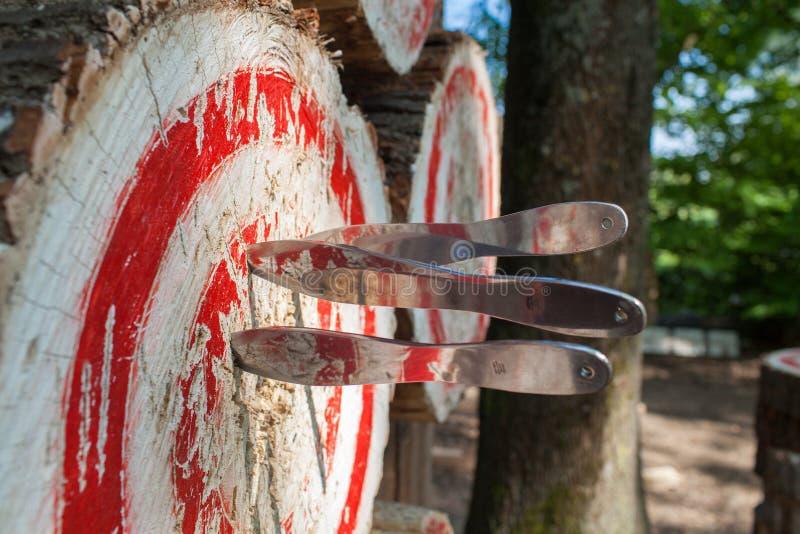 Sport all'aperto che gettano i coltelli Italia immagini stock