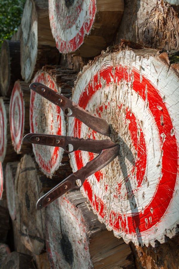 Sport all'aperto che gettano i coltelli Italia fotografia stock libera da diritti