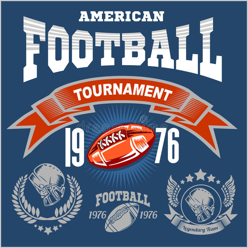 Sport American Football Logo. royalty free illustration