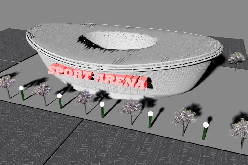 Sport arena widzieć od above royalty ilustracja