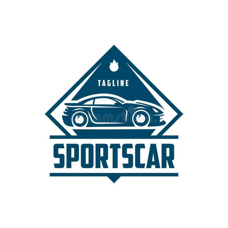 Sport-Auto-Logoschablone oder -ikone lizenzfreie abbildung
