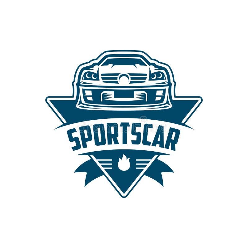Sport-Auto-Logoschablone oder -ikone vektor abbildung