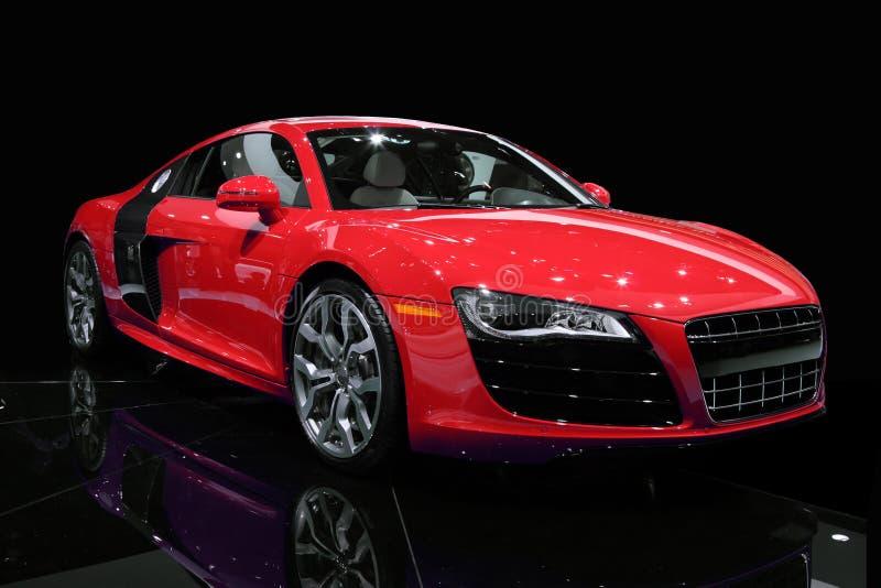 Sport-Auto lokalisiert lizenzfreies stockbild
