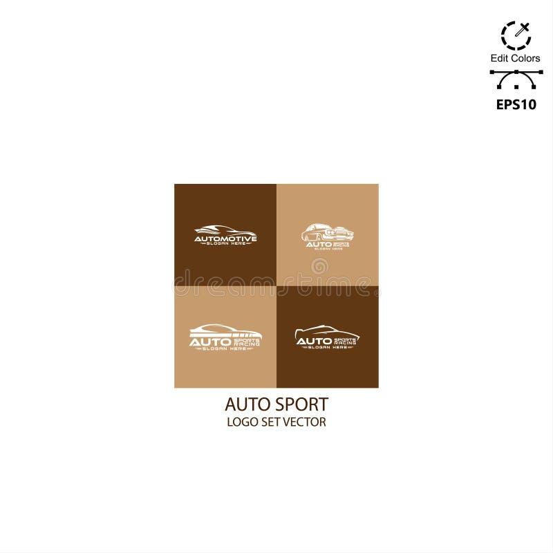 sport automatique de paquet de conception de logo illustration de vecteur