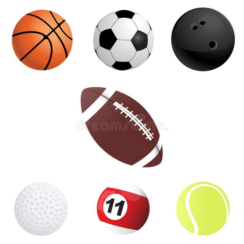 Sport-Bälle lizenzfreie abbildung