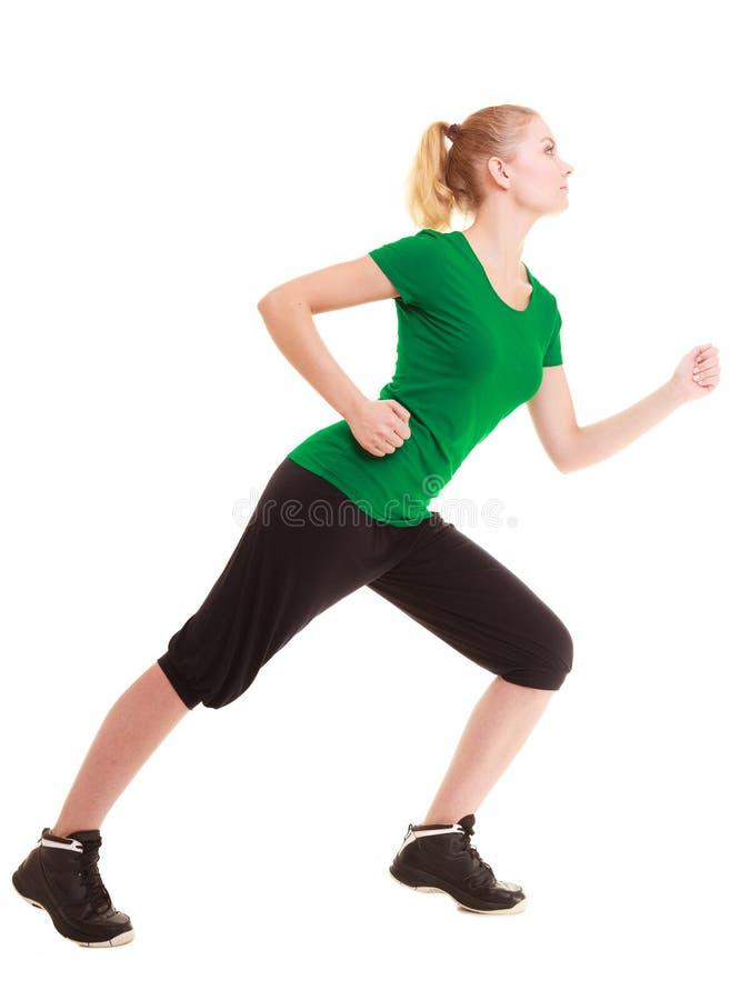 sport Böjlig konditionflicka som gör sträcka övning arkivbilder