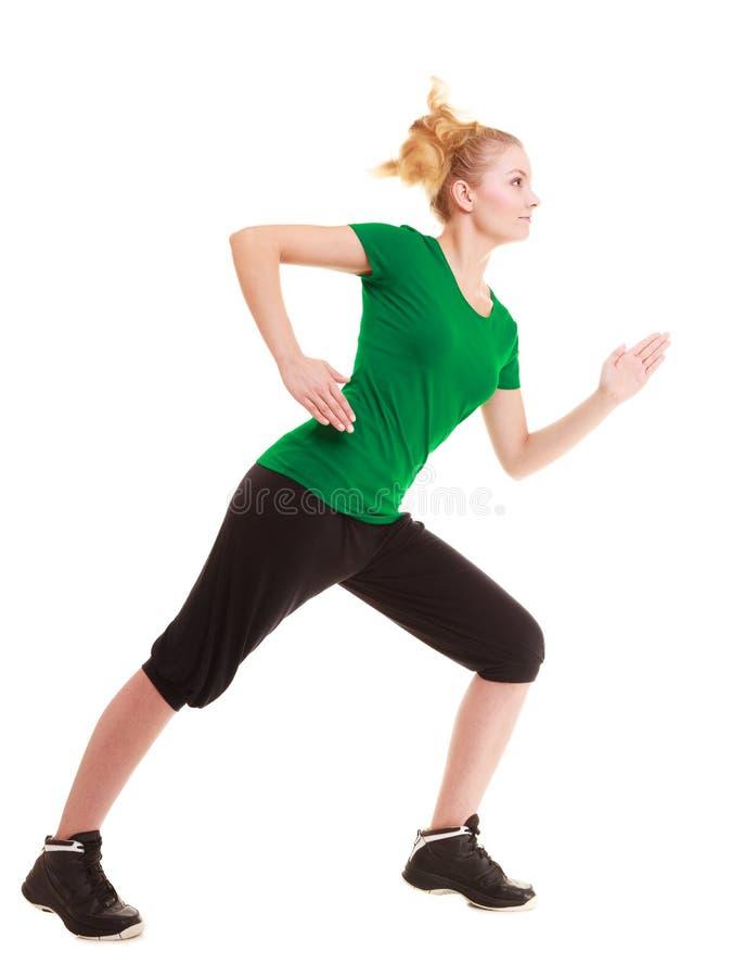 sport Böjlig konditionflicka som gör sträcka övning royaltyfri foto
