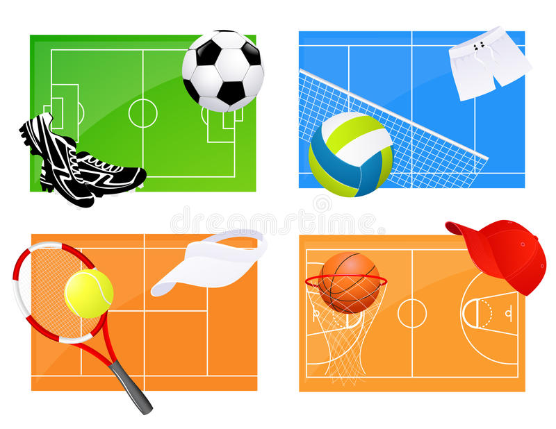 Sport backgrounds royalty free illustration
