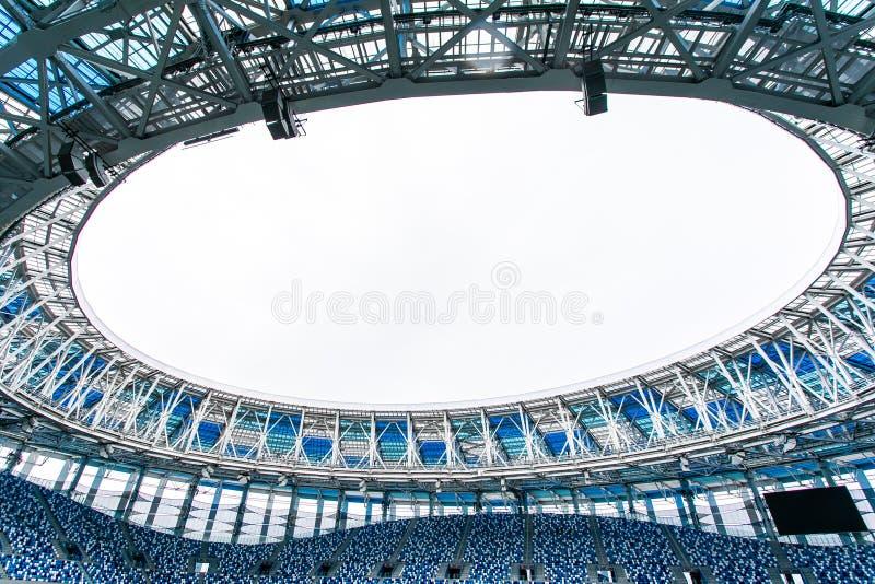 Sport Backgrounds. Soccer stadium. Image of empty football stadium background stock image