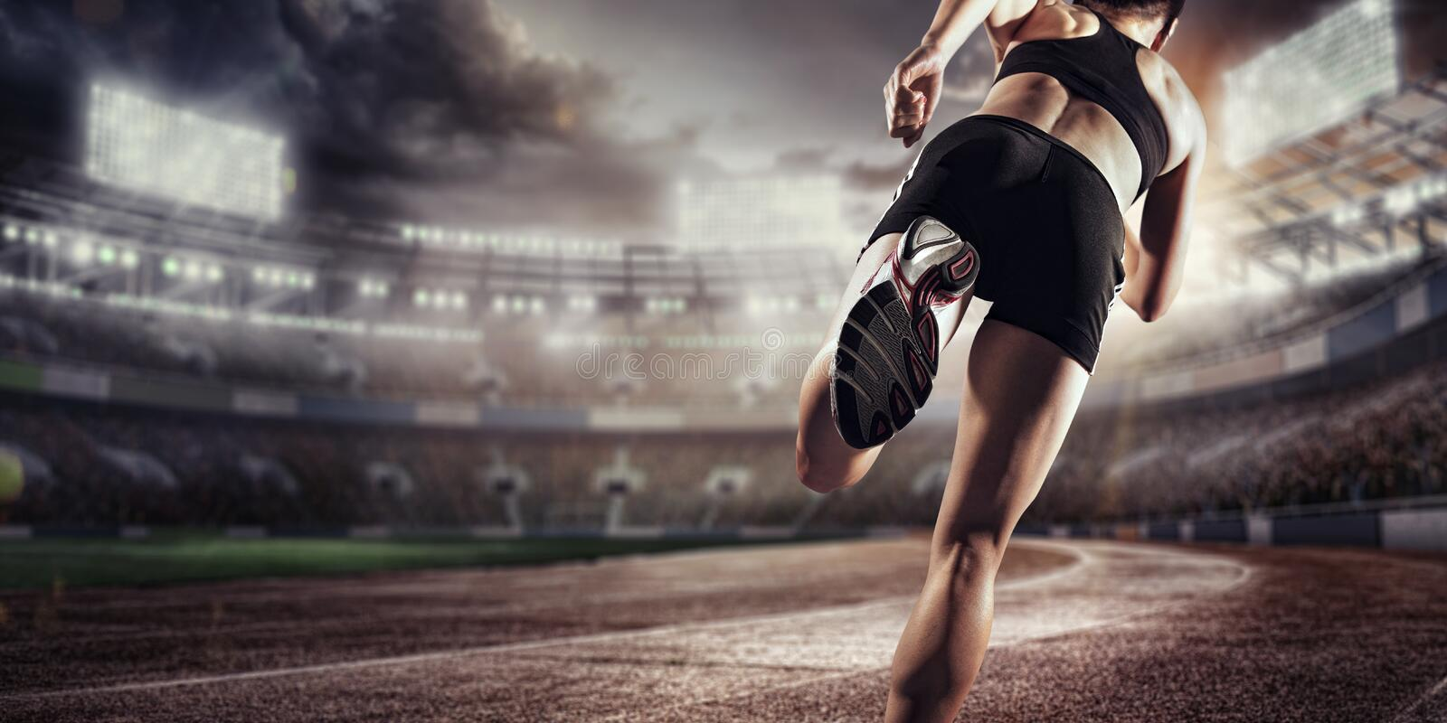 Sport Backgrounds. Soccer Stadium And Running Track. 3d ...