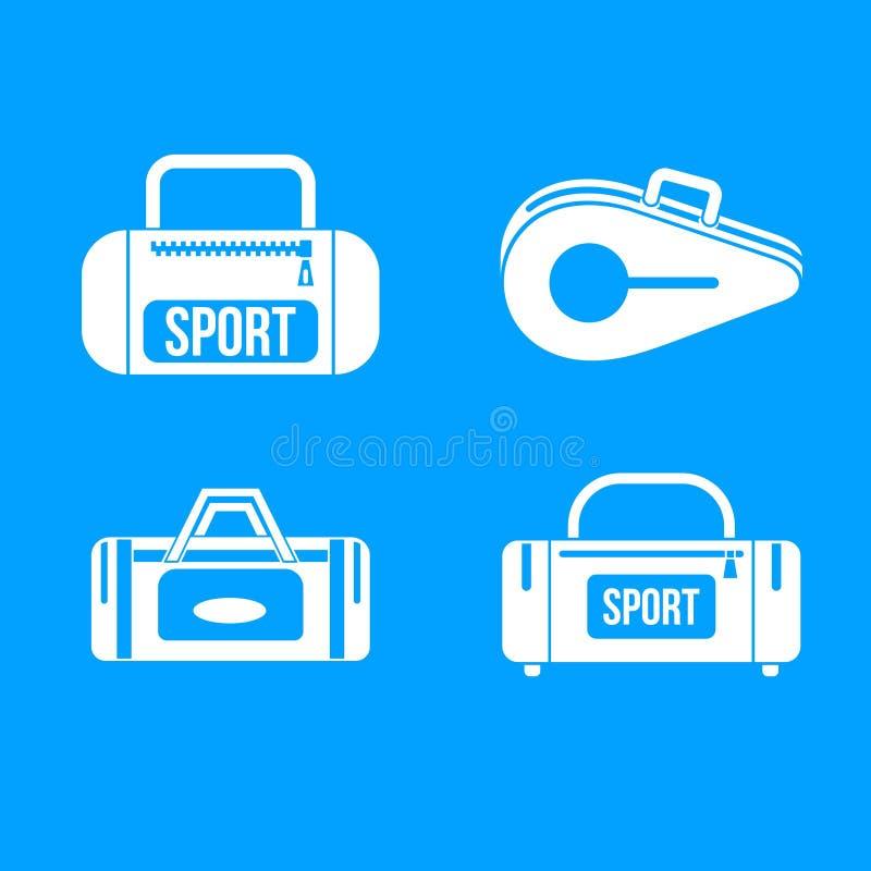 Sport bag icon blue set vector vector illustration