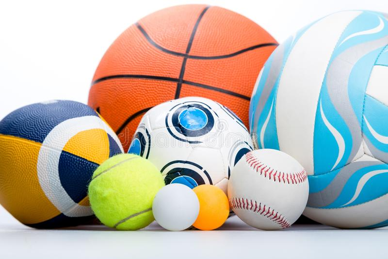 Sport. Ball icon bowling toys ing goods polo royalty free stock photo
