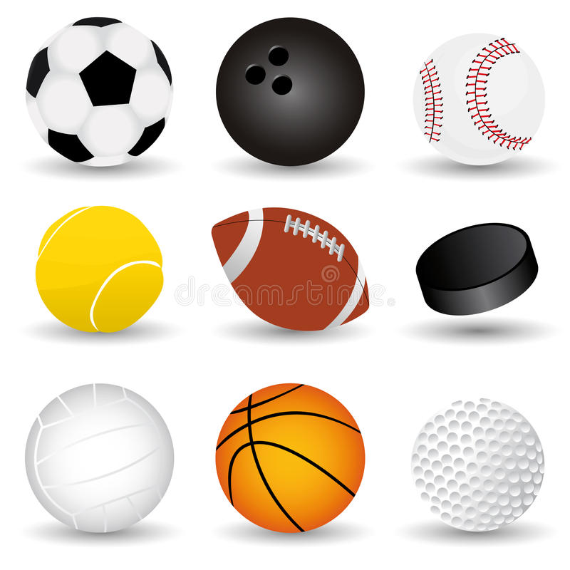 Sport Balls stock illustration