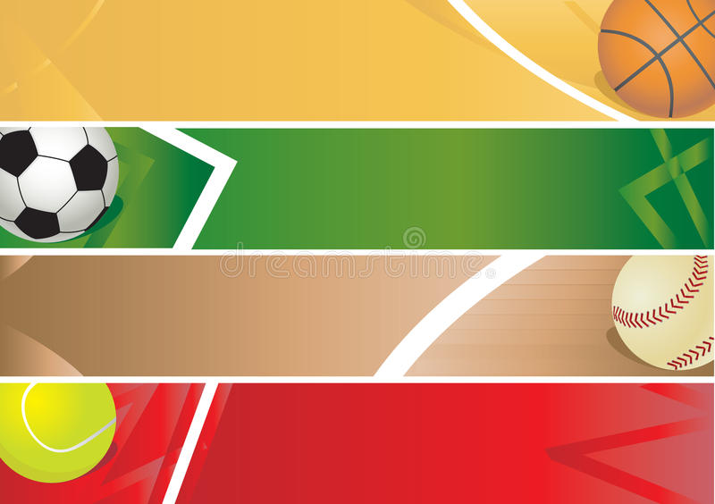 Sport balls banner stock illustration