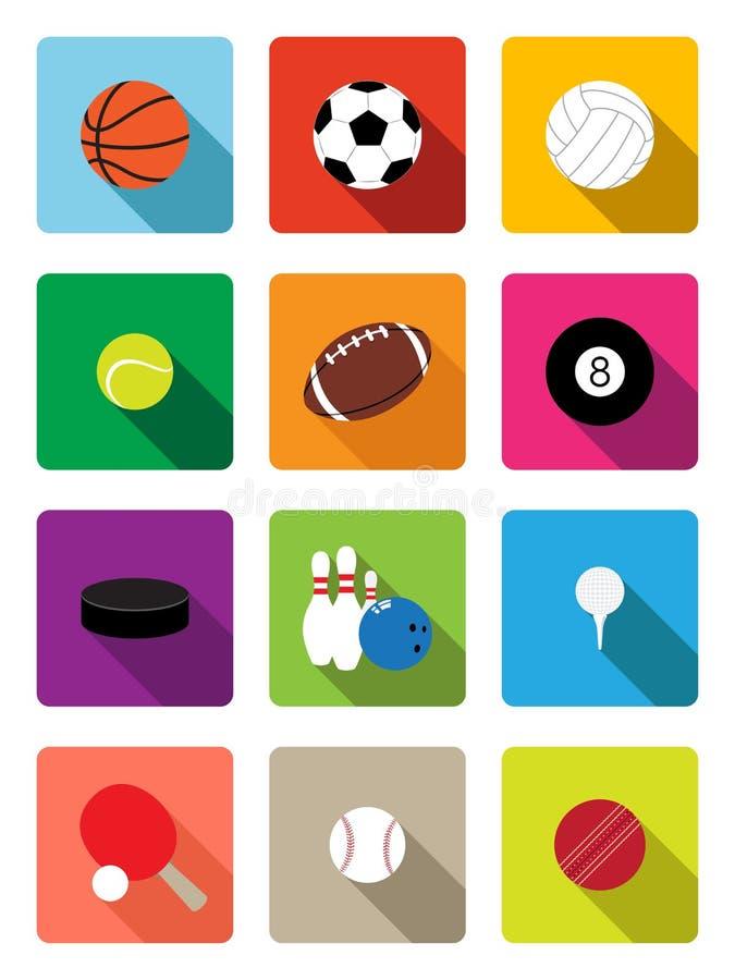 Sport balls flat icons royalty free illustration